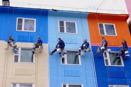 Состав работ при ремонте фасадов